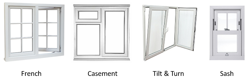 4 Types of double glazed windows